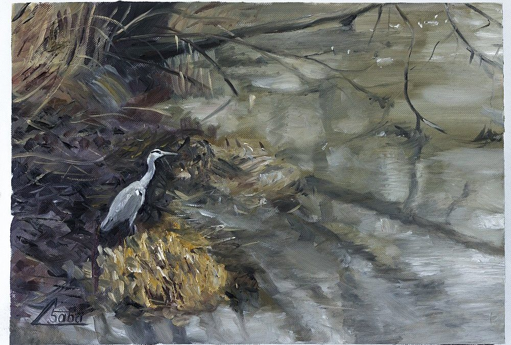 Herons and the Zorn Palette